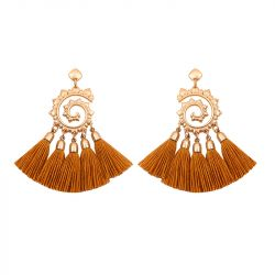 Swirl Tassel Earrings