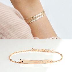 Rose Gold Tone Engraved Bracelet Sterling Silver