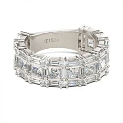 Princess Cut Sterling Silver Women's Band