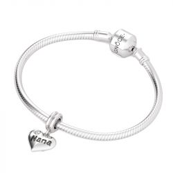 Heart Shape Love Nana Sterling Silver