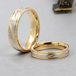 Stripe Couple Rings Titanium Steel