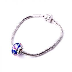 Pretty Flowers Glass Charm