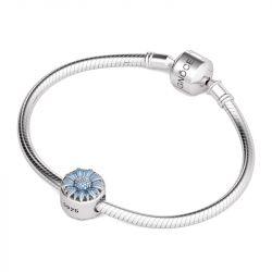 Blue Flower Charm Sterling Silver