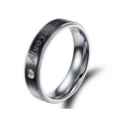 Fashion Two Tone Titanium Steel Men's Band