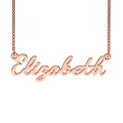 Rose Gold Tone Dancingscript Style Name Necklace