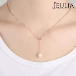 Classic Created Pearl Pendant Necklace