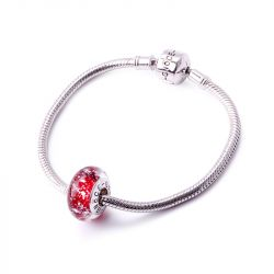 Red Ice Crystal Glass Charm