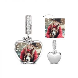 Apple Engravable Charm Sterling Silver