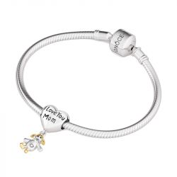 I Love You Mom Charm Sterling Silver