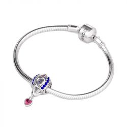 Pave Heart Hot-air Balloon Sterling Silver