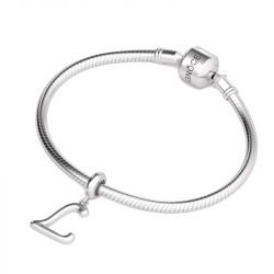 Letter L Dangling Charm Sterling Silver