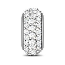 Pave Stones Stopper Sterling Silver