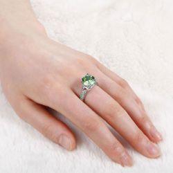 Vintage Round Cut Sterling Sliver Ring