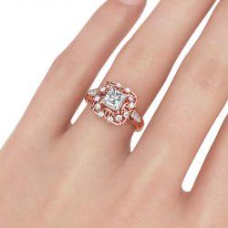 Art Deco Princess Cut Sterling Silver Ring