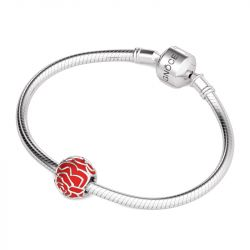 Red Rose Charm Sterling Silver
