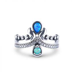 Mermaid Teardrop Stackable Opal Ring
