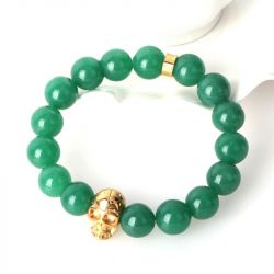 Skull and Bead Men's Bracelet
