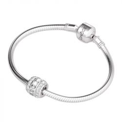 April Birthstone Charm Sterling Silver