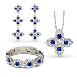 Lucky Flower Sterling Silver Jewelry Set