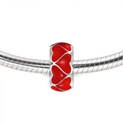 Red Heart Stopper Sterling Silver