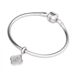 Number Eight Charm Sterling Silver