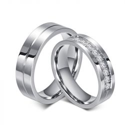 Titanium Steel Couple Rings