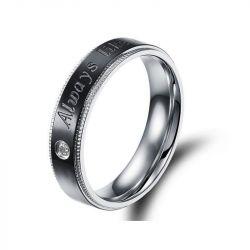 Jeulia Fashion Two Tone Titanium Steel Men's Ring