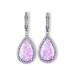 Dreamlike Pink-Purple Opal Earrings