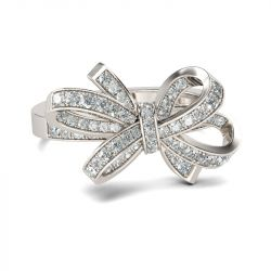 Bowknot Sterling Silver Cocktail Ring