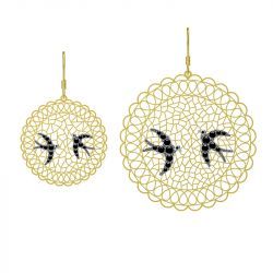 Filigree Swallow Drop Earrings