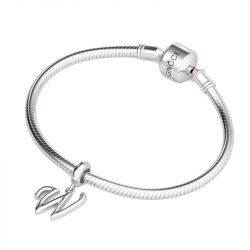 Letter W Dangling Charm Sterling Silver