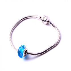 Ocean Blue Glass Charm