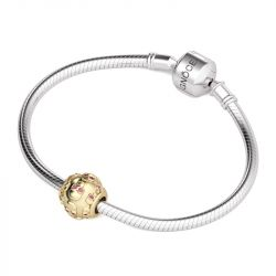 Gold Tone Skull Charm Sterling Silver