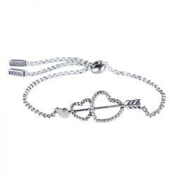 Arrow and Heart Bolo Bracelet