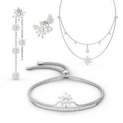 Jeulia Dandelion Sterling Silver Jewelry Set