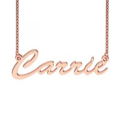 Rose Gold Tone Carrie Style Name Necklace