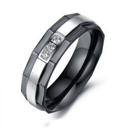 Black Plating Titanium Steel Ring