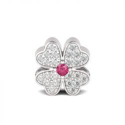 Four-leaf Clover Charm Sterling Silver