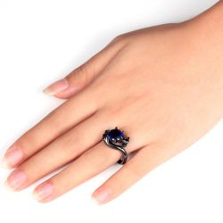 Jeulia Black Tone Dragon Ring