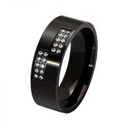 Jeulia Symmetrical Titanium Steel Men's Wedding Ring
