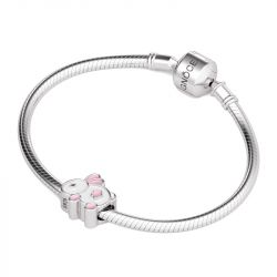 Pink Rabbit Charm Sterling Silver