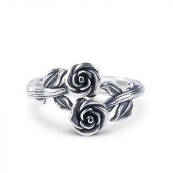 Cross Roses Ring