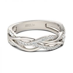 36 Off Intertwined Sterling Silver Women S Band