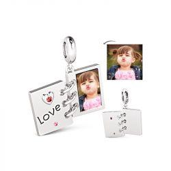 Love Album Photo Charm Sterling Silver