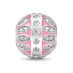 Radiant Imitated Crystal Charm Sterling Silver