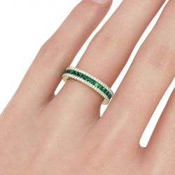 Gold Tone Sterling Silver Women's Band