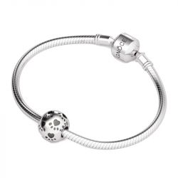 Paw Print Charm Sterling Silver