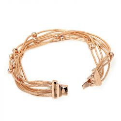 Rose Gold Tone Layered Bracelet