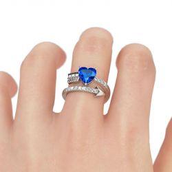 Jeulia Heart Cut Promise Ring