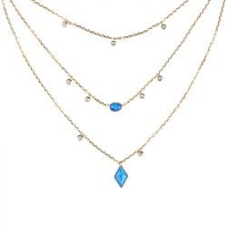 Three Wishes Triple Layered Necklace